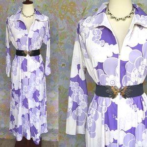 True Vintage🌸70s Blossom Dream Maxi Dress/Robe!